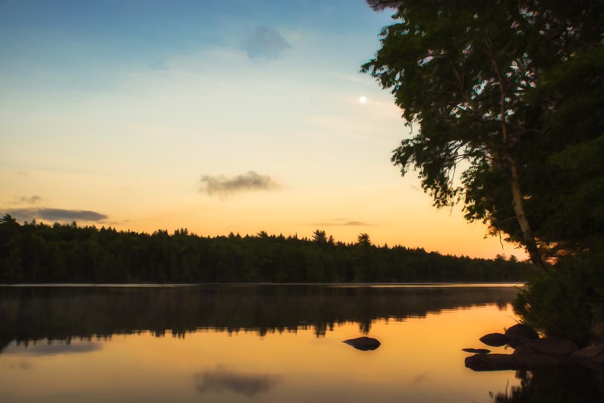 Water Glow - Lake Sunset - Photo